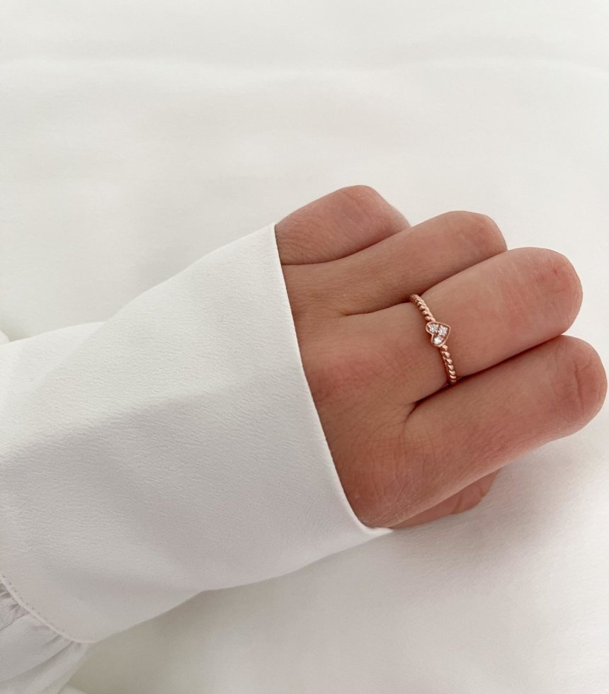 Ring Sweet Heart 925 Silber Roségold
