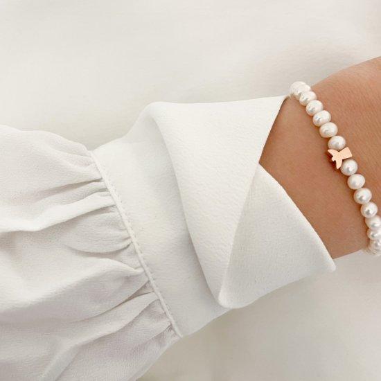 Armband Schutzengel Edelstahl Roségold
