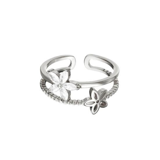 Ring Little Flower Silber