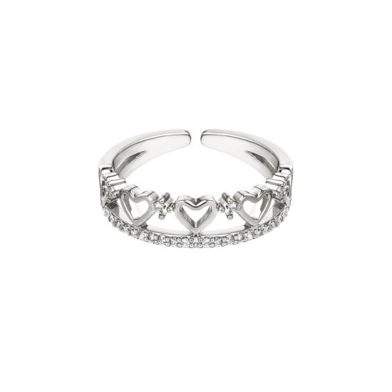 Ring Multi Hearts Silber