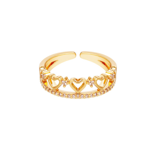 Ring Multi Hearts Gold