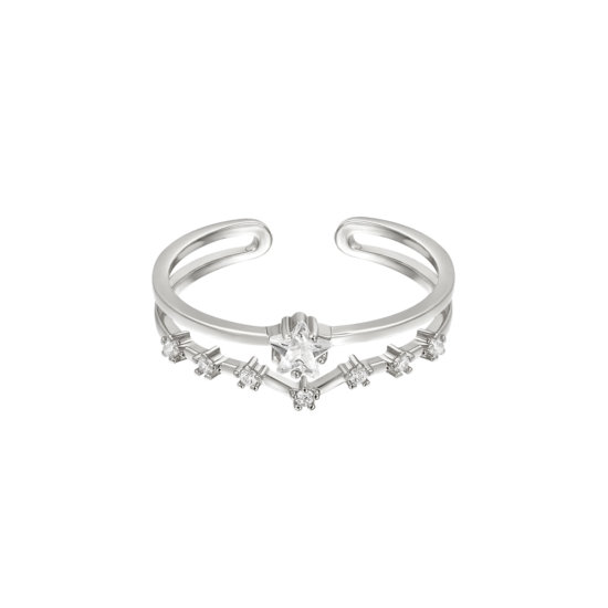 Ring Bightest Star Silber