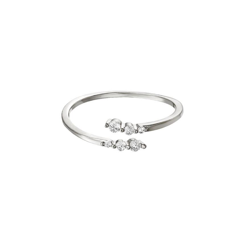 Ring Sparkling Twist Silber