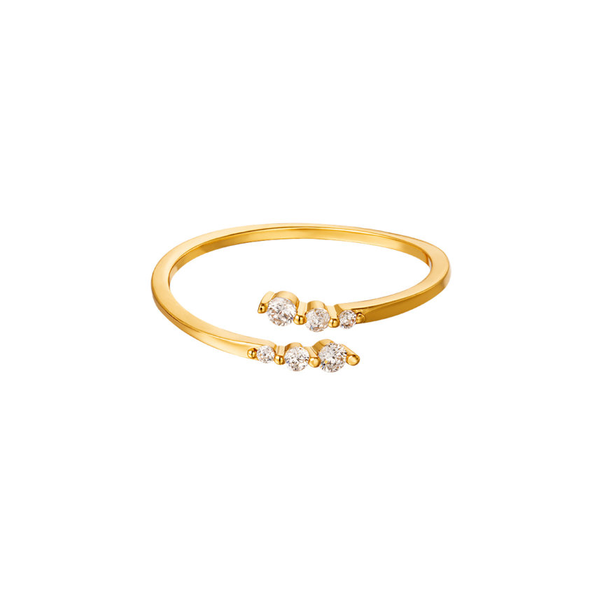 Ring Sparkling Twist Gold