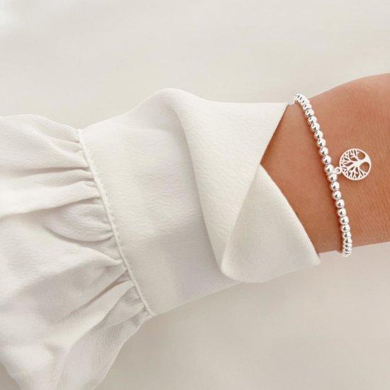 Armband Lebensbaum Edelstahl Silber