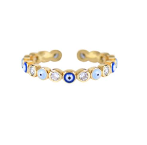 Ring Enamel Nazar Auge Gold